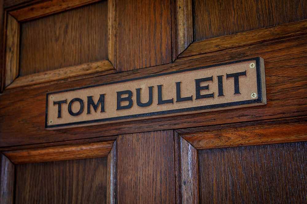 The office of Tom Bulleit, the founder of Bulleit Bourbon, inside the visitors center at The Bulleit Frontier Whiskey Experience at Stitzel-Weller Distillery in the Shively area of Louisville, Kentucky, January 30, 2015. Gary He/DRAMBOX MEDIA LIBRARY