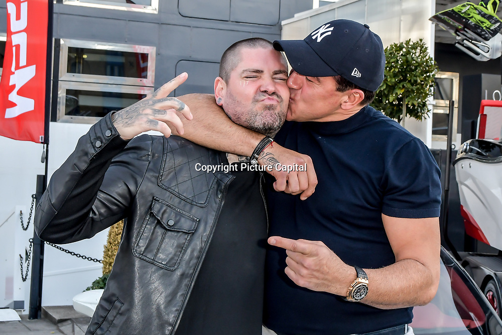 Shane Lynch and Tamer Hassan attend the Driving holiday experience hosts yacht party at The Sunborn Yacht, Royal Victoria Dock on 31 May 2019, London, UK.