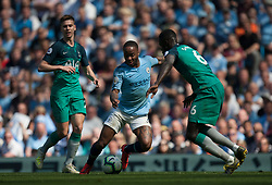 Raheem Sterling of Manchester City (C) in action - Mandatory by-line: Jack Phillips/JMP - 20/04/2019 - FOOTBALL - Etihad Stadium - Manchester, England - Manchester City v Tottenham Hotspur - English Premier League