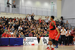 Bristol Flyers fans cheer - Photo mandatory by-line: Dougie Allward/JMP - Mobile: 07966 386802 - 17/01/2015 - SPORT - Basketball - Bristol - SGS Wise Campus - Bristol Flyers v Worcester Wolves - British Basketball League