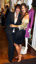 Left to right, GHISLAINE MAXWELL and ELIZABETH SALTZMAN at a party hosted by Elizabeth Saltzman and Harvey Nichols to celebrate the UK launch of New York fashion designer Tory Burch held at the Fifth Floor Restaurant, Harvey Nichols, Knightsbridge, London on 24th May 2006.<br /><br />NON EXCLUSIVE - WORLD RIGHTS