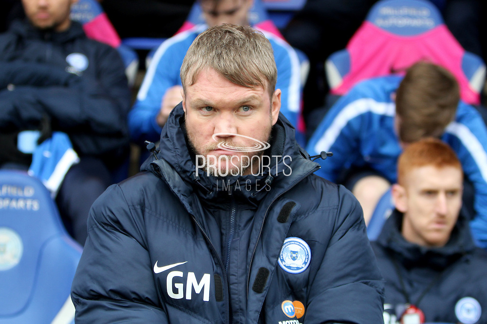 Peterborough United manager Grant McCann before the EFL Sky Bet League 1 match between Peterborough United and Sheffield Utd at London Road, Peterborough, England on 11 February 2017. Photo by Nigel Cole.