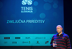 Andrej Krasevec at Slovenian Tennis personality of the year 2016 annual awards presented by Slovene Tennis Association Tenis Slovenija, on December 7, 2016 in Siti Teater, Ljubljana, Slovenia. Photo by Vid Ponikvar / Sportida
