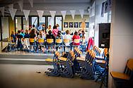 ROTTERDAM - Basisschoolleraren het werk neer uit protest tegen het lerarentekort, de werkdruk en de slechte salarissen. Het is de eerste actie die ook ouders en leerlingen raakt. ANP ROBIN UTRECHT