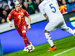 Egzijan Alioski of Macedonia vs Aljaž Struna of Slovenia during football match between National teams of Slovenia and North Macedonia in Group G of UEFA Euro 2020 qualifications, on March 24, 2019 in SRC Stozice, Ljubljana, Slovenia.  Photo by Matic Ritonja / Sportida