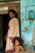 Family at the entrance of their home in Nagapattinam.