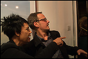 ESTHER ANDERSON; JONATHAN YEO, Mim Scala, In Motion, private view. Eleven. Eccleston st. London. 9 October 2014.