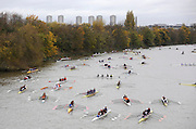 London, GREAT BRITAIN,  Marshalling Area between Chiswick Bridge and barmes Rail Bridge, Fullers Fours Head of the River Race, Raced over the reverse Championship Course, Mortlake to Putney. Saturday  [Date}. [Mandatory Credit. Peter Spurrier/Intersport Images] Rowing Course: River Thames, Championship course, Putney to Mortlake 4.25 Miles,