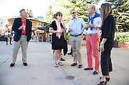 The Booz Allen Hamilton core team gathers for the staff dinner and retirement of Rich Wilhelm and Mike McConnell at the 2014 Aspen Ideas Festival in Aspen, CO. ©Brett Wilhelm