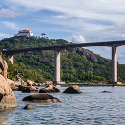 """""""Terceira Ponte e Convento da Penha (Vila Velha-ES) fotografado em Vitória / Vilha Velha, Espírito Santo -  Sudeste do Brasil. Registro feito em 2008.<br /> <br /> <br /> <br /> ENGLISH:  Third Bridge and the Penha Convent photographed in Vitória / Vilha Velha, Espírito Santo - Southeast of Brazil. Picture made in 2008."""""""