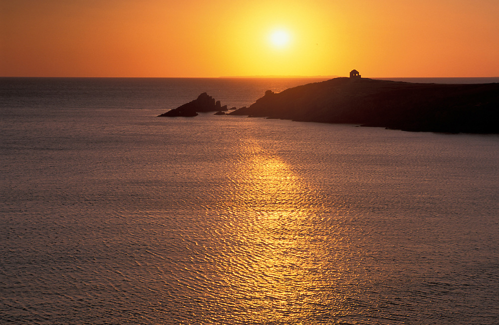 Sunset at L'Arch, Cote Sauvage, Presqui'l de Quiberon,Brittany,France