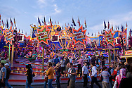 Europe, Germany, North Rhine-Westphalia, Ruhr area, Herne, the kermis in the district Crange [the kermis in Crange is the biggest fair in North Rhine-Westphalia], carrousel.....Europa, Deutschland, Nordrhein-Westfalen, Ruhrgebiet, Herne, die Cranger Kirmes im Stadtteil Crange [die Cranger Kirmes ist das groesste Volksfest in Nordrhein-Westfalen], Karussell.....[For each usage of my images the General Terms and Conditions are mandatory.]