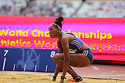 Shara Proctor of Great Britain in the Long Jump during the Sainsbury's Anniversary Games at the Queen Elizabeth II Olympic Park, London, United Kingdom on 25 July 2015. Photo by Phil Duncan.