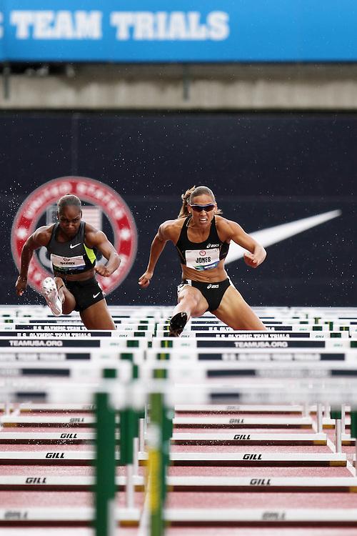 Olympic Trials Eugene 2012: womens' 100 meter hurdles, Lolo Jones,