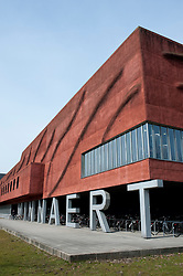 Exterior of modern Minnaert Building at Utrecht University in the Netherlands. Architect Willem Jan Neutelings
