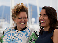 Director Meryem Benm'barek and Sarah Perles at the Sofia film photo call at the 71st Cannes Film Festival, Wednesday 16th May 2018, Cannes, France. Photo credit: Doreen Kennedy