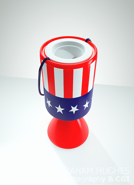 Stars and Stripes Charity Collection Box
