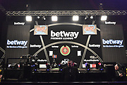 The Manchester Arena before the Betway Premier League Darts at the Manchester Arena, Manchester, United Kingdom on 23 March 2017. Photo by Mark Pollitt.
