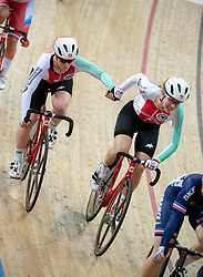 January 26, 2019 - Hong Kong, Hong Kong SAR, China - The Swiss team.Women's Madison 20km race.UCI Track Cycling World Cup Hong Kong 2019, Qualifiers Leg VI at the Hong Kong Velodrome in Tseung Kwan O ,Kowloon (Credit Image: © Jayne Russell/ZUMA Wire)