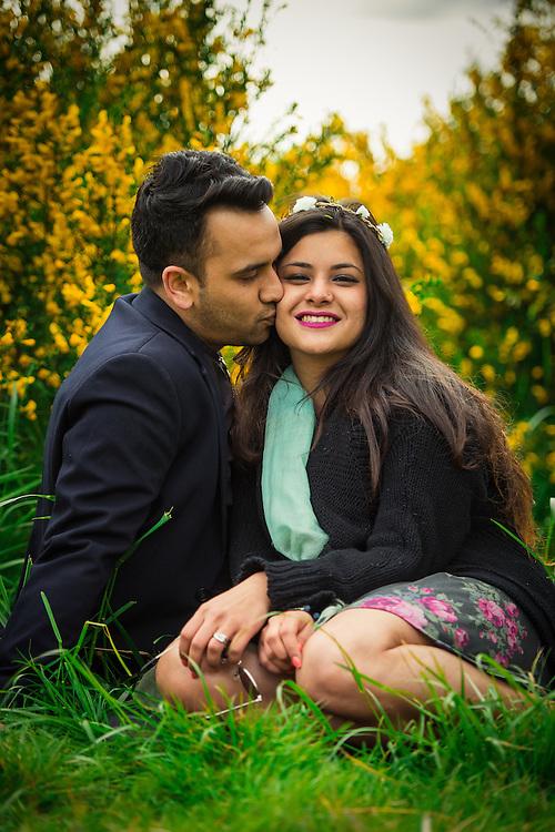 Rahul and Disha engagement photos by John Lill