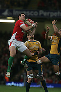 Jamie Roberts of Wales. Invesco Perpetual series, Wales v Australia at the Millennium Stadium on Saturday 28th Nov 2009.  pic by Andrew Orchard, Andrew Orchard sports photography, .EDITORIAL USE ONLY