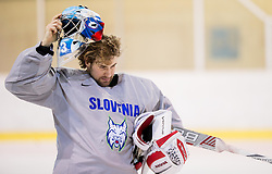Robert Kristan during practice session of Slovenian Ice Hockey National Team at training camp, on February 8th, 2016 in Ledna dvorana, Bled, Slovenia. Photo by Vid Ponikvar / Sportida