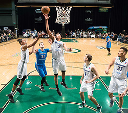 March 20, 2017 - Reno, Nevada, U.S - Reno Bighorn Guard LUIS MONTERO (2) pulls down a rebound during the NBA D-League Basketball game between the Reno Bighorns and the Texas Legends at the Reno Events Center in Reno, Nevada. (Credit Image: © Jeff Mulvihill via ZUMA Wire)