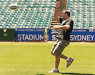 SYDNEY, AUSTRALIA, FEBRUARY 24, 2011: UFC fighter Stephan Bonnar is pictured on the field during a media event at Sydney Football Stadium in Sydney, Australia on February 24, 2011