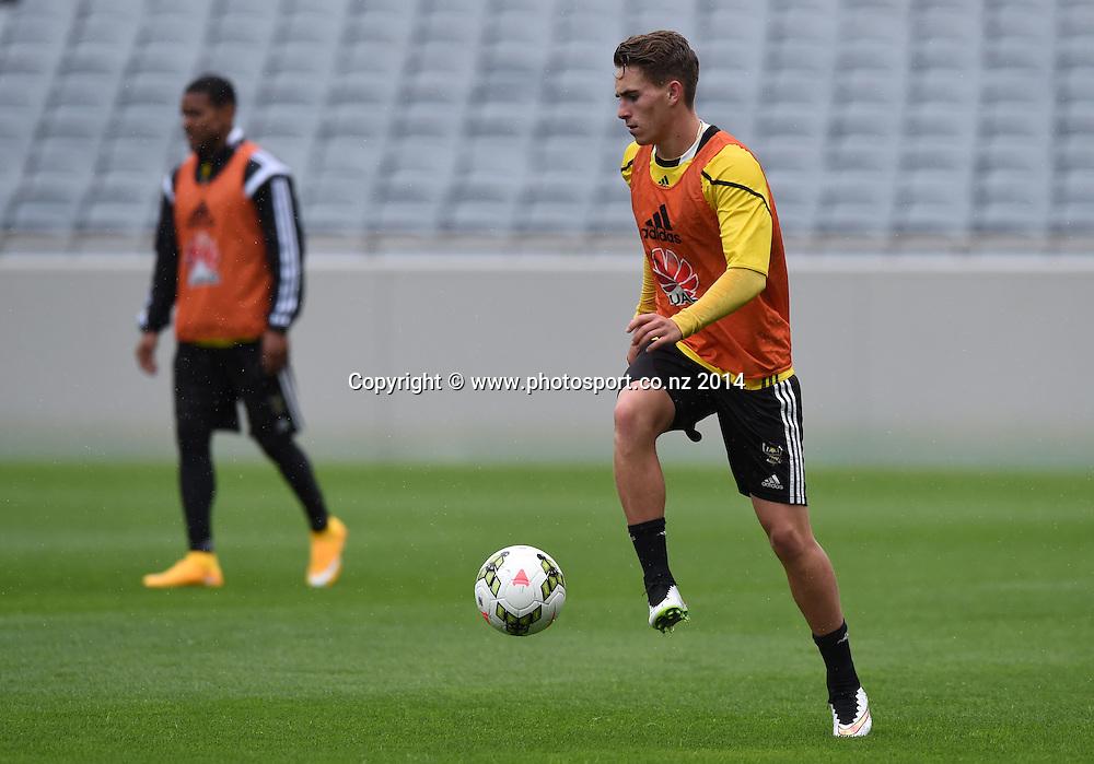 Tyler Boyd. A-League Football. Wellington Phoenix training session at Eden Park, Friday 12 December 2014. Photo: Andrew Cornaga/photosport.co.nz