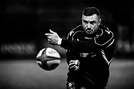 Rory Hughes of Glasgow Warriors during the pre match warm up<br /> <br /> Photographer Simon King/Replay Images<br /> <br /> Guinness PRO14 Round 15 - Cardiff Blues v Glasgow Warriors - Saturday 16th February 2019 - Cardiff Arms Park - Cardiff<br /> <br /> World Copyright © Replay Images . All rights reserved. info@replayimages.co.uk - http://replayimages.co.uk
