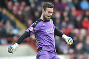 Tyrell Belford (25) of Swindon Town during the Sky Bet League 1 match between Scunthorpe United and Swindon Town at Glanford Park, Scunthorpe, England on 28 March 2016. Photo by Ian Lyall.