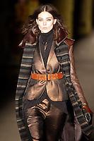 Kati Nescher walks down runway for F2012 Rag & Bone collection in Mercedes Benz fashion week in New York on Feb 10, 2012 NYC