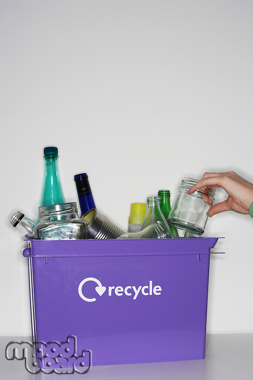 Box with Recycleables