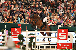 Stuhlmeyer Patrick, (GER), Lacan<br /> Longines FEI World Cup presented by Sparkasse<br /> Sparkasen Cup-Grand Prix of Leipzig<br /> CSIO Leipzig 2016<br /> © Hippo Foto - Stefan Lafrentz