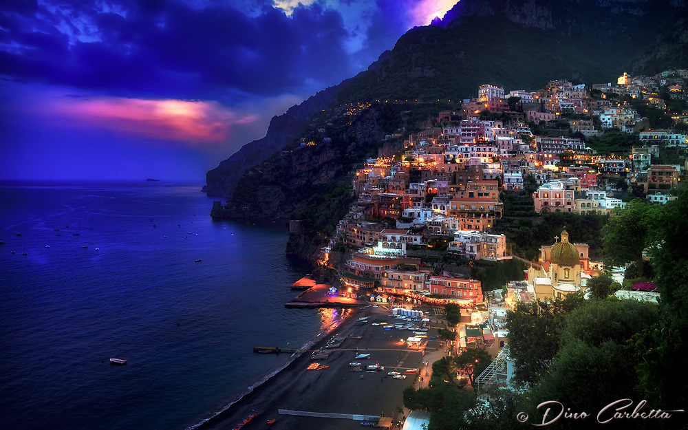 """The magical twilight time of Positano""...<br />