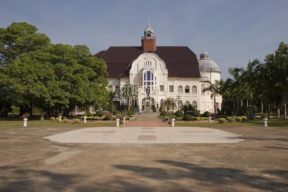 Scenes of Phra Ramrajnivet Palace, Phetchaburi, Thailand