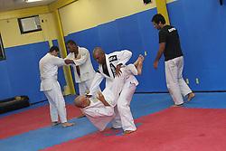August 24, 2011; Rio De Janiero, Brazil; Fighter workouts for UFC 134 on Copacabana Beach.