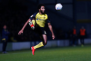 Richard Nartey controls the ball during the EFL Sky Bet League 1 match between Burton Albion and Southend United at the Pirelli Stadium, Burton upon Trent, England on 3 December 2019.