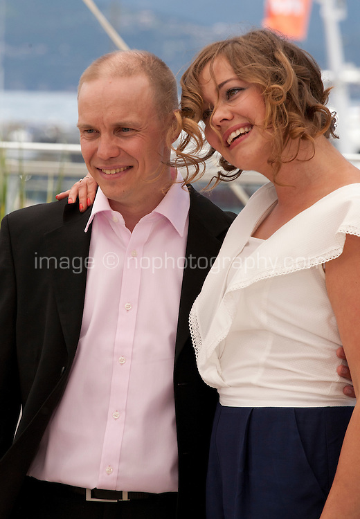 Jarkko Lahti and Oona Airola at The Happiest Day In The Life Of Olli Maki film photo call at the 69th Cannes Film Festival Thursday 19th May 2016, Cannes, France. Photography: Doreen Kennedy