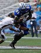 Hampton receiver Onrea Jones (81) caught 4 passes for 42 yards and a touchdown during their game against Grambling in the 2006 MEAC-SWAC Football Challenge at Legion Field in Birmingham, Alabama.  Hampton won 27-26 in OT.  September 02, 2006  (Photo by Mark W. Sutton)