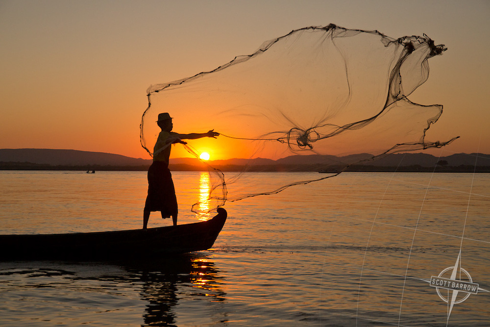 Fishermen on the Irrawaddy River, Myanmar