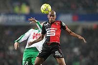 Fotball<br /> Frankrike<br /> 18.01.2015<br /> Foto: Panoramic/Digitalsport<br /> NORWAY ONLY<br /> <br /> Gelson Fernandes (Rennes)<br /> Fabien Lemoine (Saint Etienne)<br /> Rennes vs Saint Etienne - Ligue 1