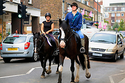 "UNITED KINGDOM WIMBLEDON 26JUN09 - General view of horse riders in Wimbledon Village, Boris Becker's new home in London. The newlyweds Boris Becker & Sharlely ""Lilly"" Kerssenberg have recently moved into a 6-million pound property in Burghley Road, Wimbledon, London...jre/Photo by Jiri Rezac..© Jiri Rezac 2009"