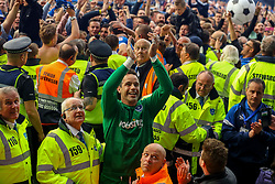 Portsmouth fans celebrate with David Forde of Portsmouth - Mandatory by-line: Jason Brown/JMP - 06/05/2017 - FOOTBALL - Fratton Park - Portsmouth, England - Portsmouth v Cheltenham Town - Sky Bet League Two