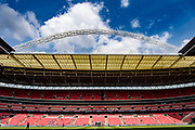 general shot of the stadium before  the FA Community Shield match between Arsenal and Chelsea at Wembley Stadium, London, England on 6 August 2017. Photo by Sebastian Frej.