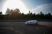 Alwin Visker tijdens zijn recordpoging. HPT Delft en Amsterdam is in Senftenberg voor de recordpogingen op de Dekra baan.<br />