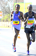 Fancy Chemutai (KEN) places third in the women's race in 1:06:58 in the Prague Half Marathon in Prague, Czech Republic on Saturday, April 17, 2017. (Jiro Mochizuki/IOS)