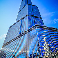 Trump Tower Chicago Picture. Trump International Hotel and Tower is a Chicago skyscraper with a hotel and condominiums. Trump Tower is named after businessman Donald Trump