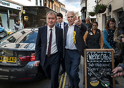 © Licensed to London News Pictures. 07/06/2017. Twickenham, UK. Liberal Democrat leader Tim Farron campaigns with local candidate Vince Cable in Twickenham on the last day of the election before the polls open. Photo credit: Peter Macdiarmid/LNP