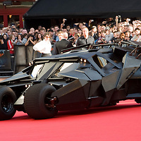LONDON - JULY 21: The latest Bat Mobile arrives at the European  film premiere of 'The Dark Knight' at Odeon, Leicester Square on July 21, 2008 in London, England.